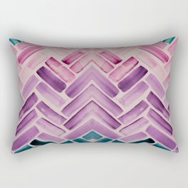 Decor Colorful Watercolor Abstract Pattern Rectangular Pillow