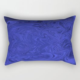 Blue swirls  Rectangular Pillow
