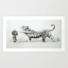 Wind & Tiger Art Print