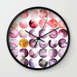 Blush Abstract Circles Wall Clock
