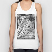 tigers Tank Tops featuring Two Tigers by Thubakabra