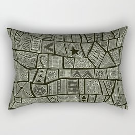 ESHE charcoal mono Rectangular Pillow