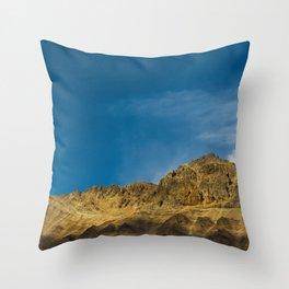Orange and Blue Throw Pillow