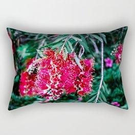 Carmine Callistemon Rectangular Pillow
