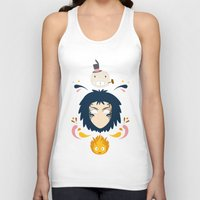 calcifer Tank Tops featuring Howl by Ashley Hay
