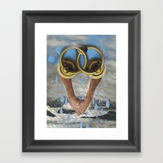 beach sex only works in movies Framed Art Print