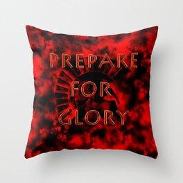 Prepare for Glory-Spartan Warrior Throw Pillow