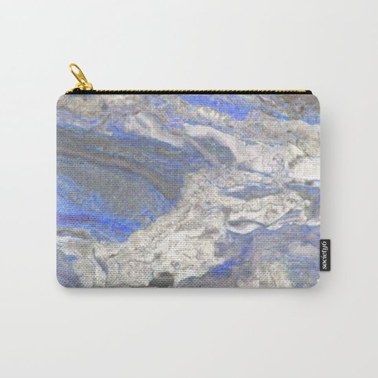 Arabescato-Orobico-Blue-Marble Carry-All Pouch