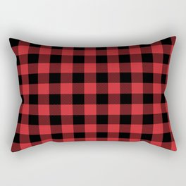 Buffalo Plaid Rustic Lumberjack Buffalo Check Pattern Rectangular Pillow