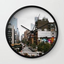 Street travel photography Newyork city, USA Wall Clock