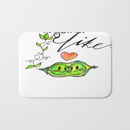 We Go Together Like Peas in a Pod Bath Mat