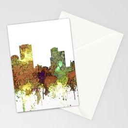Little Rock, Arkansas Skyline - Safari Buff Stationery Cards