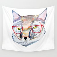 teacher Wall Tapestries featuring Mr Fox by Ashley Percival illustration