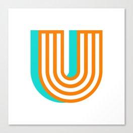 Letter U Canvas Print