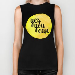 Yes You Can Motivational Quote Biker Tank
