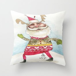 Steampunk Santa Throw Pillow