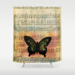 Butterfly Collage 7G by Kathy Morton Stanion Shower Curtain