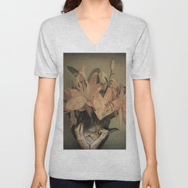 The face of fowers Unisex V-Neck