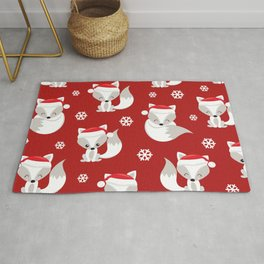 THE SPELL OF THE CHRISTMAS FOXES Rug