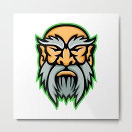 Cronus Greek God Mascot Metal Print