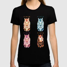 Four Colored Tigers T-shirt