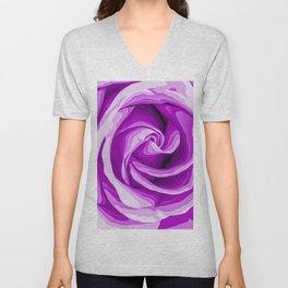 purple rose texture background Unisex V-Neck