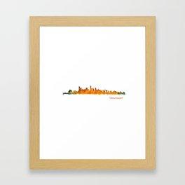 Vancouver Canada City Skyline Hq v01 Framed Art Print