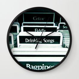 Drinking Songs & Bagpipes Wall Clock