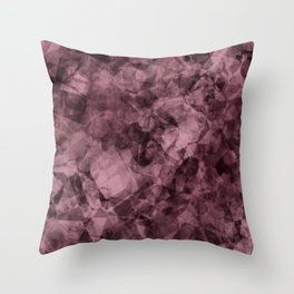 crystal wine Throw Pillow