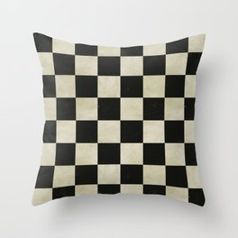 Distressed Chessboard Throw Pillow