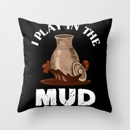Pottery Mud Throw Pillow