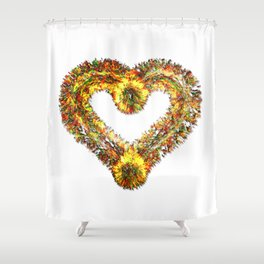 magma heart Shower Curtain