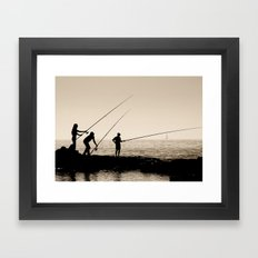 Three Fishermen Framed Art Print