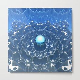 Blue Macro Sphere Metal Print