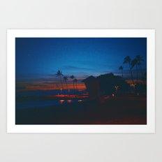 Oahu Nights Art Print