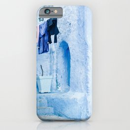 Laundry Day in Chefchaouen, Morocco iPhone Case