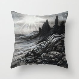 Old Man of Storr Throw Pillow
