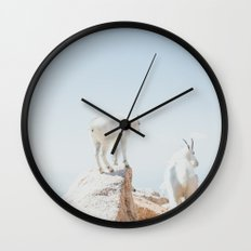 Mountain Goats Wall Clock