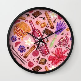 Love Potion Ingredients Wall Clock