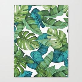 Tropical leaves II Canvas Print