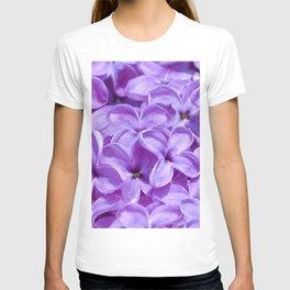 Purple Lilacs by Teresa Thompson T-shirt