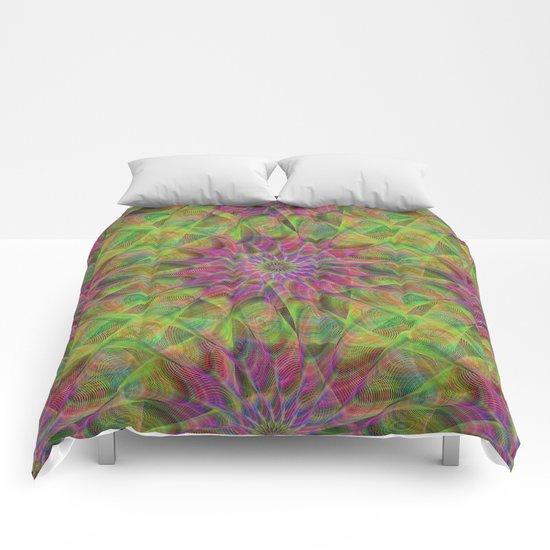 Fractal pattern Comforters