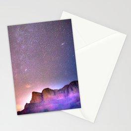 Sedona Arizona Night Sky, Meteors, and Stars Stationery Cards