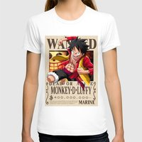 luffy T-shirts featuring Monkey D. Luffy wanted by r3v0lver