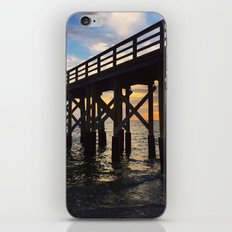 Long Pier over Ocean at Sunset iPhone & iPod Skin