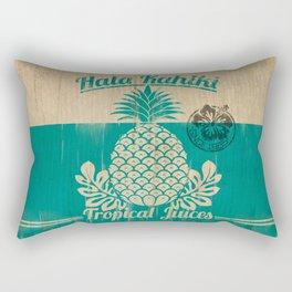 Hala Kahiki Juice Stand wooden board. Rectangular Pillow