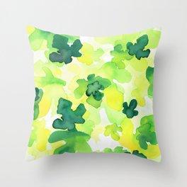 Waterleaves Throw Pillow
