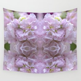 Pink Stocks Wall Tapestry