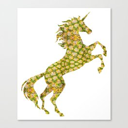 Unicorn Pineapple Symbol Tropical Plant Unicorn Canvas Print