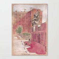 La louve de Roa - Rome, Nuovo mercato di Testaccio Canvas Print